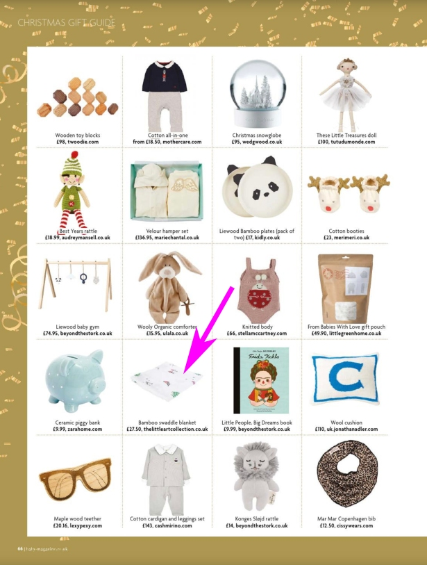 Christmas Gift Guide Magazine.Baby Magazine Feature The Little Art Collection In Their